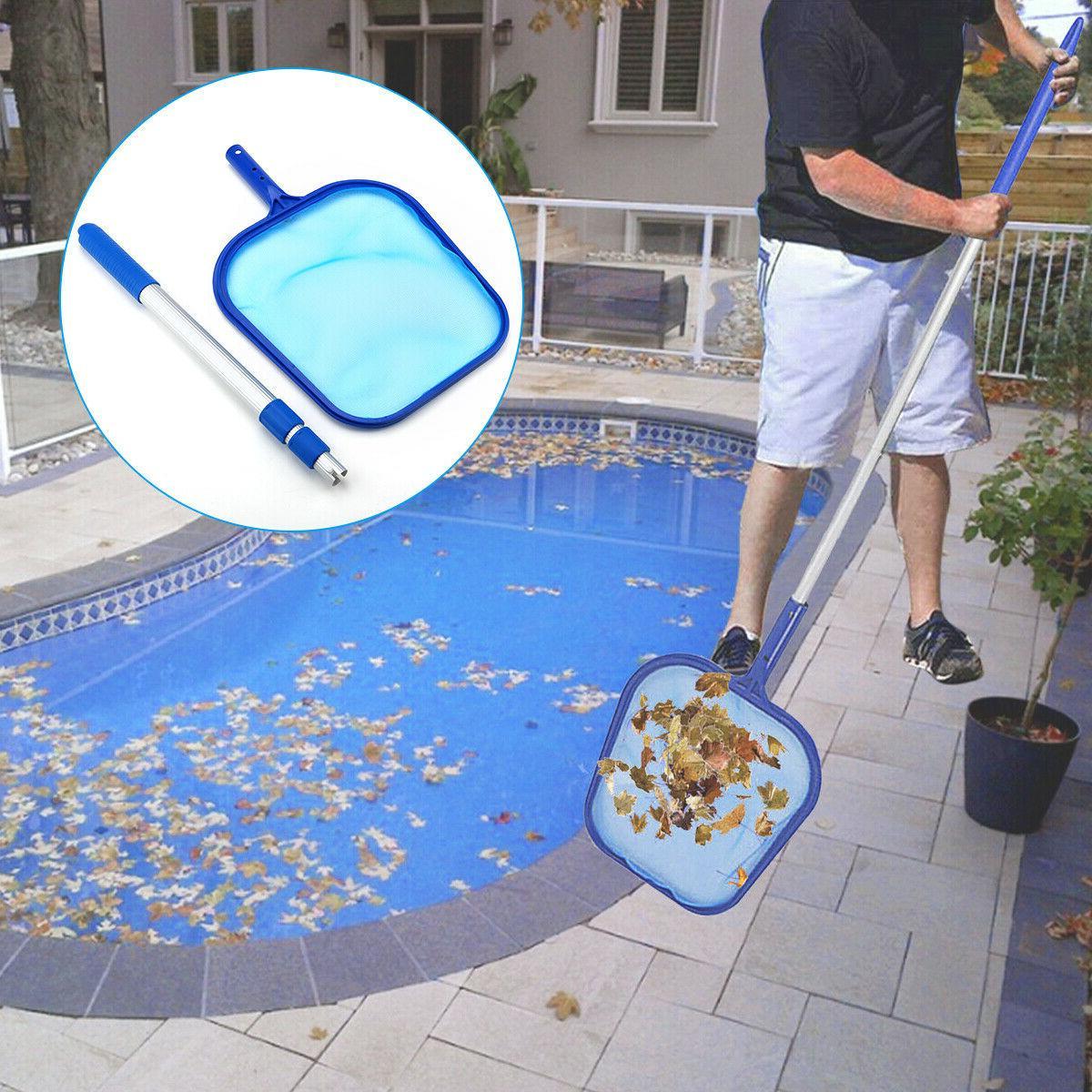 Swimming Pool Leaf Rake Telescopic Pole