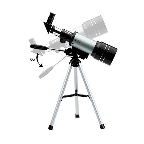 DQQ Telescope for Sky Telescopes for Astronomy Beginners Black 70mm,3X lens