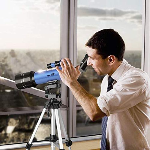 TELMU Telescope and Travel Telescopes Wheel Tripod Observing Scenery