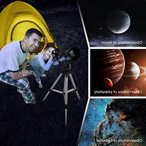 TELMU Kids and 70mm Travel Telescope Astronomy Refractor Telescopes Tripod Scenery