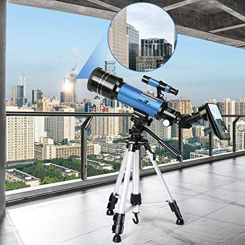 TELMU Refracting Travel Telescopes with Backpack, Adapter for