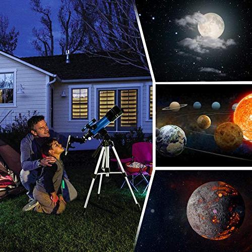 TELMU Telescope Aperture Refracting Telescope Travel Telescopes Astronomy with Phone Adapter for Any