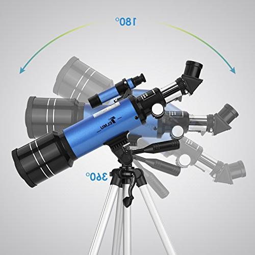 TELMU Telescope Refracting Telescope Adjustable Travel Telescopes for with Backpack, for