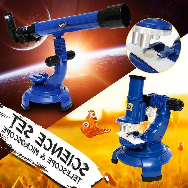 telescope microscope set science nature educational astronom