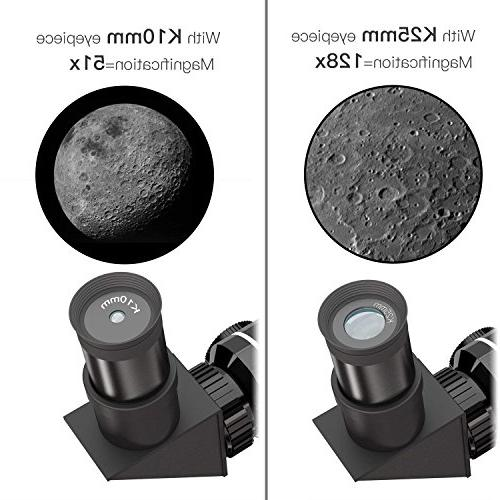 CSSEA 70mm Telescope Kids Astronomy Travel Tripod & Finder & Two Children