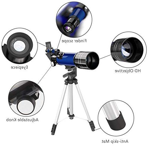 CSSEA 70mm Telescope Kids and Astronomy Beginners, Travel Scope with Tripod Finder & Children and
