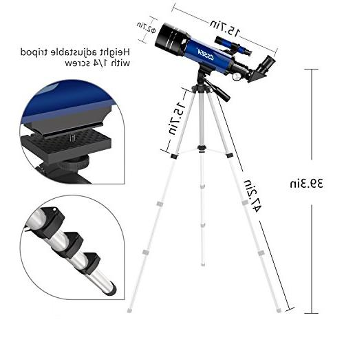 CSSEA Kids Travel Tripod Scope Children Educational and