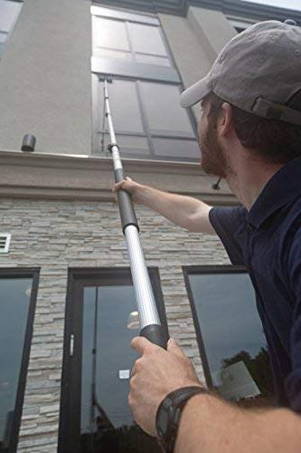 6-24 Extension Pole by Miloo   Cleaning, Paint Extender, Duster Pole, Hanging Lights, Gutter Bulb Changing
