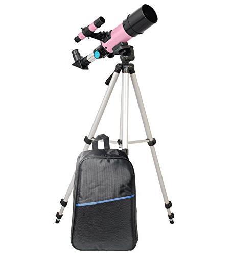 twinstar compact refractor telescope backpack