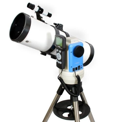 white computerized gps reflector telescope