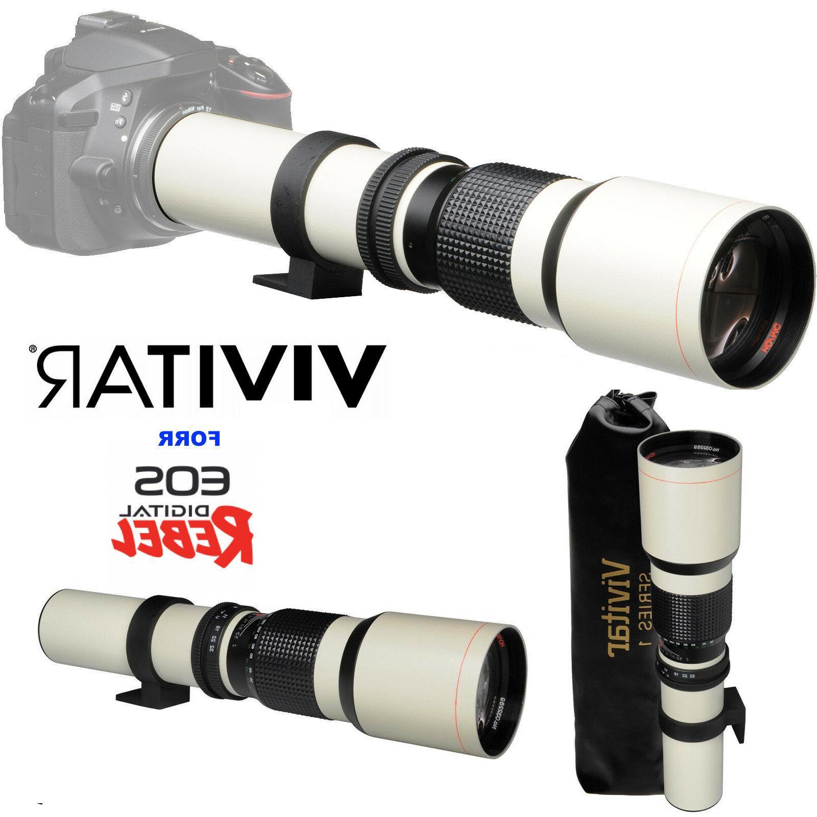 VIVITAR WHITE TELEPHOTO TELESCOPIC FOR DSLR