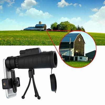 40X60 HD Lens Monocular + Tripod Clip Mobile