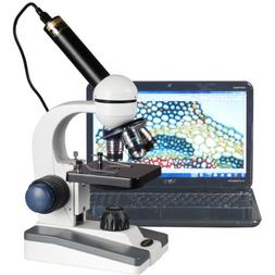 AmScope M150C-E5 40 x 1000 x LED Coarse & Fine Focus Science