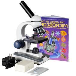 AmScope 40X-1000X Coarse & Fine Student Compound Microscope