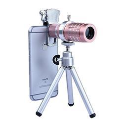 Apexel 12x Manual Focus Telephoto Camera Lens Kit with Mini