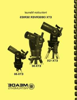 Meade Observer ETX 80 90 125 Telescope OWNER'S INSTRUCTION M