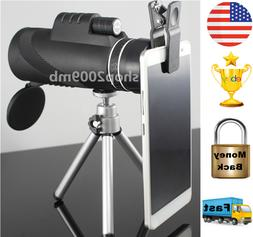 Monocular 40x60 Powerful Binoculars Zoom Glasses Handheld Te