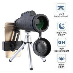Monocular 50X60 Zoom Optical HD Lens Telescope + Tripod +Cli