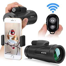 Monocular Telescope for Smartphone, 12X50 High Power BAK4 Pr