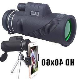 40x60 Monocular Telescope, High-Powered BAK4 Prism Low Night