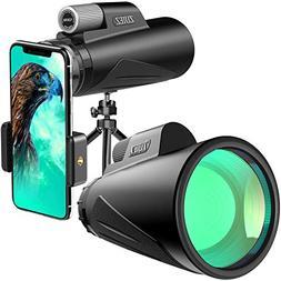 Monocular Telescope,12X50 High Power Monocular with Phone Mo