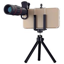 AMKM 18x25 Monocular Telescope, 1000m Zoom Phone Camera Lens