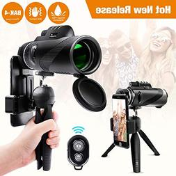 Monocular Telescope 12x50 High Power Waterproof Monocular Sc