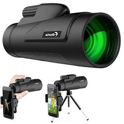 12X50 Monocular Telescope, F.DORLA High Power Prism Low Nigh