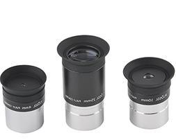 Gosky 4mm 10mm 25mm 1.25inch Multi-Coated Plossl Telescope E