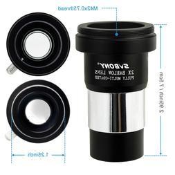 "SVBONY 1.25"" Barlow Lens Telescope Eyepiece Astronomy/T Adap"