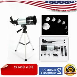 NEW 150X Zoom Refractor Astronomical Telescope 300mm f/4+Tri