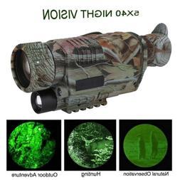 Night Vision 5X40 Goggles Monocular Telescope Hunting Video