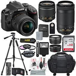 Nikon D3400 with AF-P DX NIKKOR 18-55mm f/3.5-5.6G VR + Niko