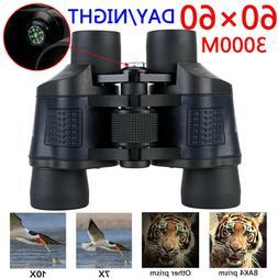 Optical Glass Hunting Telescope HD 60X60 Binoculars Day Nigh