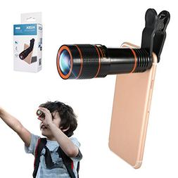 Phone Camera Lens Kit, Hizek 12X Universal Optical Zoom Lens