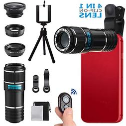 Phone Camera Lens, MSDADA Telephoto Lens Kit, 12X Optical Te