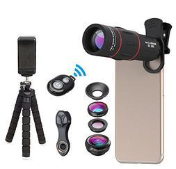 Apexel Phone Photography Kit-Flexible Phone Tripod +Remote S