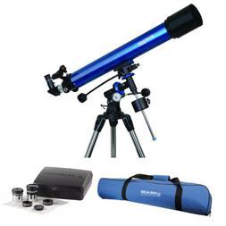 Meade Polaris 90mm German Equatorial Refractor Telescope and
