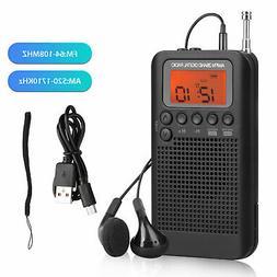 Portable AM FM Pocket 2 Bands Telescopic Antenna Stereo Digi
