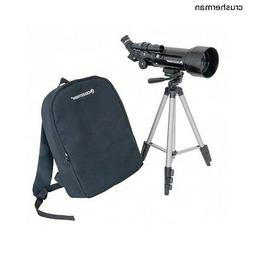 Portable Refractor Telescope Celestron 70mm Travel Scope Tri