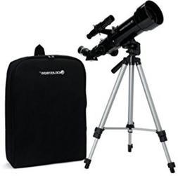 Portable Telescope Travel Scope Refractor 70mm Compact w/ Ba