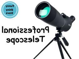 Professional Telescope Astronomer Zoom High Resolution Plane