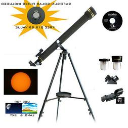 Galileo 800x60 Refracting Telescope - Black