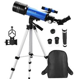 MaxUSee 70mm Refractor Telescope for Kids & Beginners, Trave