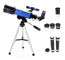 70mm Refractor Telescope with Tripod & Finder Scope, Portabl