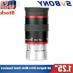 "SVBONY Relief Eyepiece 1.25"" 9mm 68°Ultra Wide Angle FMC Fo"