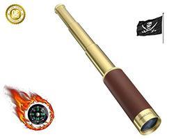 PROCHE Retro Pirate Telescope Zoomable 25x30 Pocket Monocula