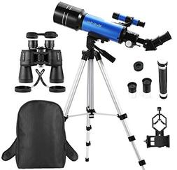 MaxUSee Travel Scope with Backpack - 70mm Refractor Telescop