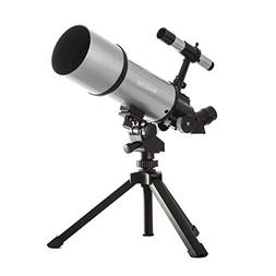 Silver TwinStar AstroMark 80mm 16-40x Power Portable Refract