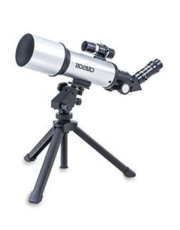 Carson Sky Chaser 70mm Refractor Beginner Telescope with Tab